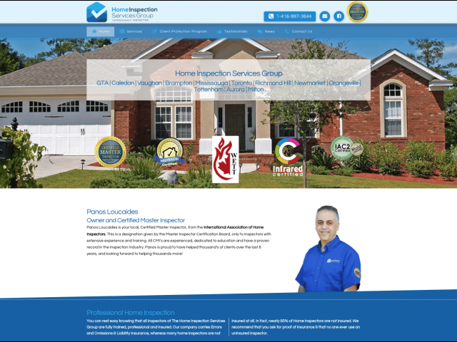 Home Inspection Website - Local Business SEO