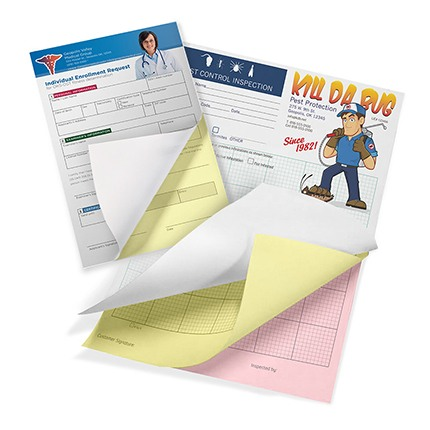 Custom NCR Form design and printing - carbonless form printing