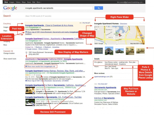 Search Engine Results Page - Google