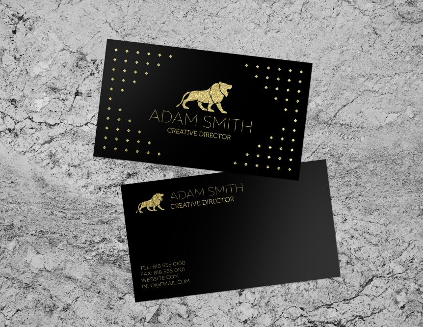 Business Card with Foil Stamp