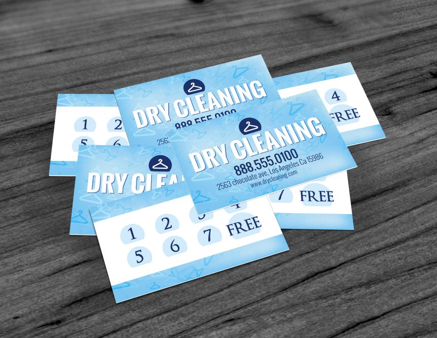 Dry Cleaner loyalty card