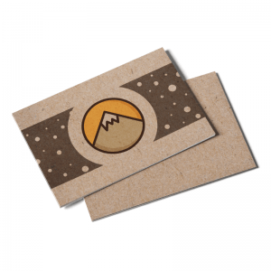 Kraft Postcards recycled paper
