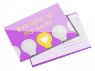 custom glossy postcard