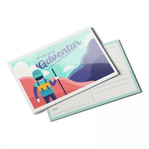 semi gloss finish post card