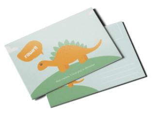 writable custom postcard