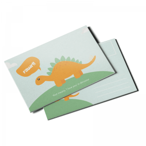 writable custom postcard
